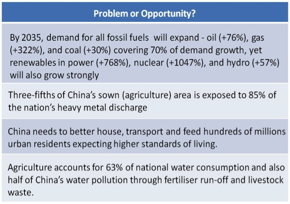 Consumption and emissions in China